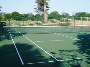 Outdoor Tennis Court in Green